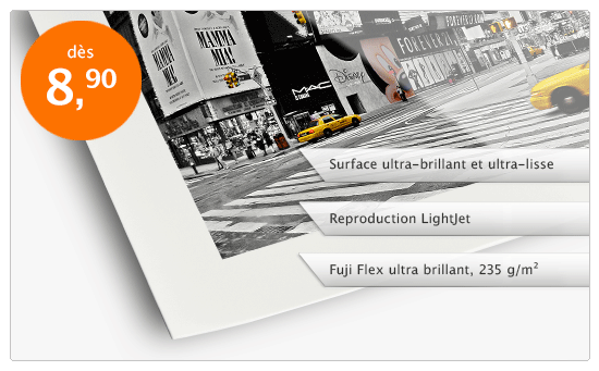 Tirage LightJet sur Fuji Flex ultra-brillant