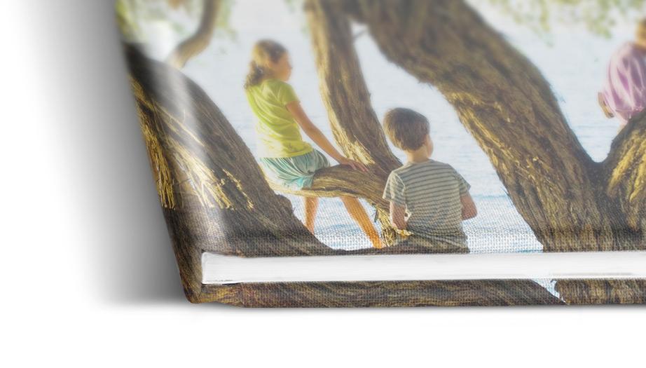 Fotobuch mit Leinencover bedruckt | WhiteWall