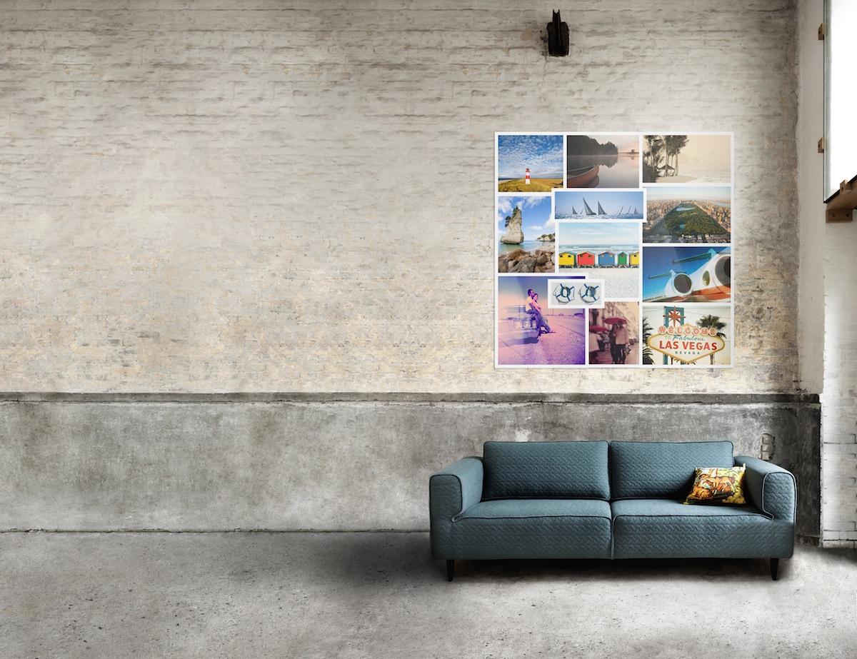 Bilder anordnen: Die Collage als dekorative Hängungsart von Kunst und Fotografie.