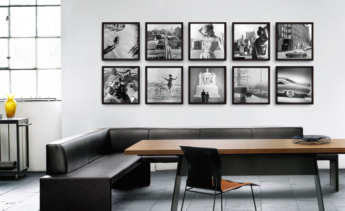 Bilder anordnen: Die Rasterhängung als dekorative Hängungsart von Kunst und Fotografie.