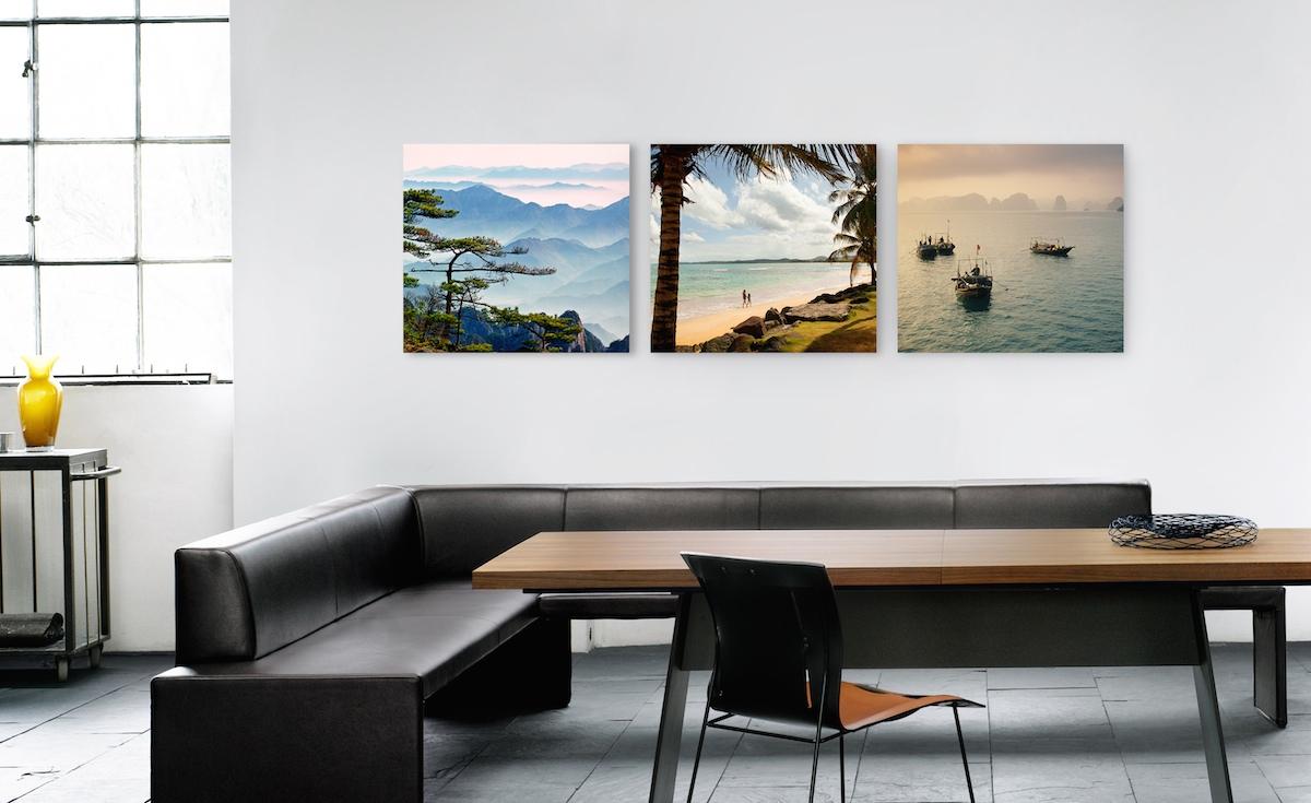 Bilder anordnen: Die Reihenhängung als dekorative Hängungsart von Kunst und Fotografie.