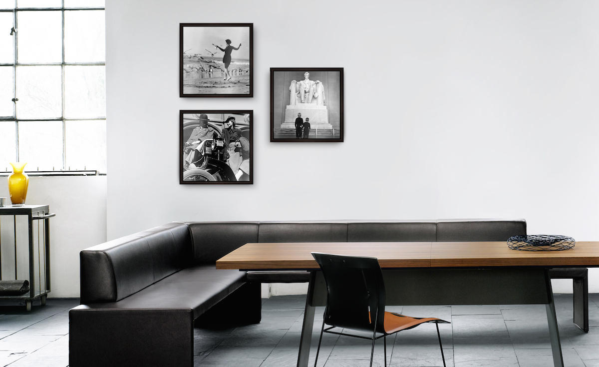 Bilder anordnen: Die Symmetrische Hängung als dekorative Hängungsart von Kunst und Fotografie.