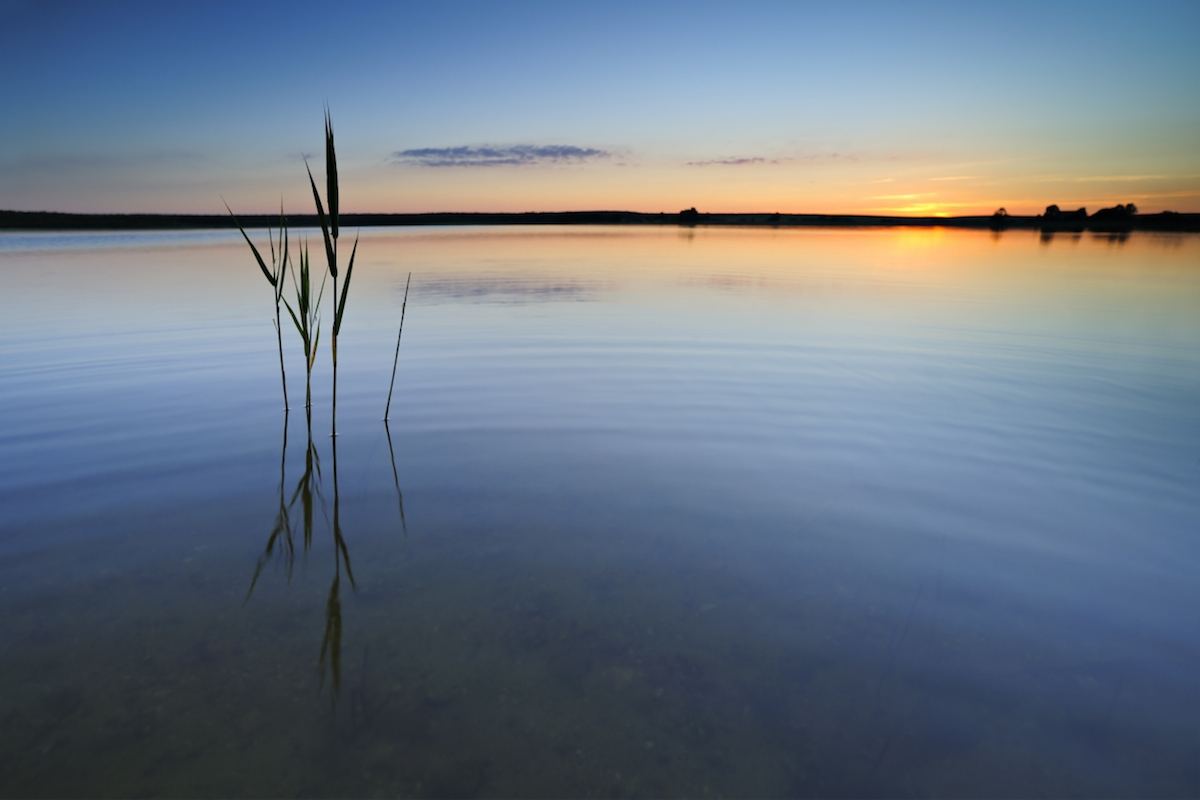 Blaue Stunde Sonnenuntergang