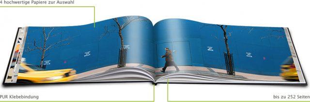 Das Premium Digitaldruck Fotobuch ermöglicht bis zu 252 Seiten.