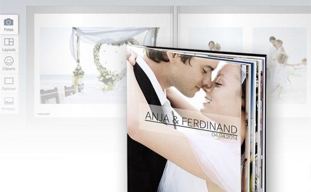 Ein Hochzeitsfotobuch zeigt viele Emotionen.