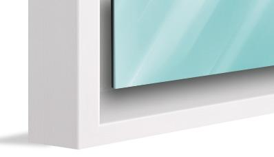 Ein Rahmen mit Schattenfuge setzt das Kunstwerk in Szene.