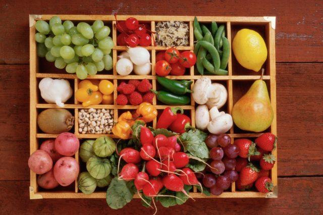 Obst- und Gemüsemotive verscchönern jede Küche