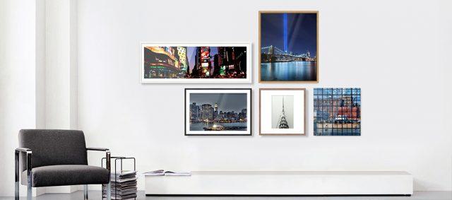 Fotografien entfalten an der Wand ihre volle Wirkung