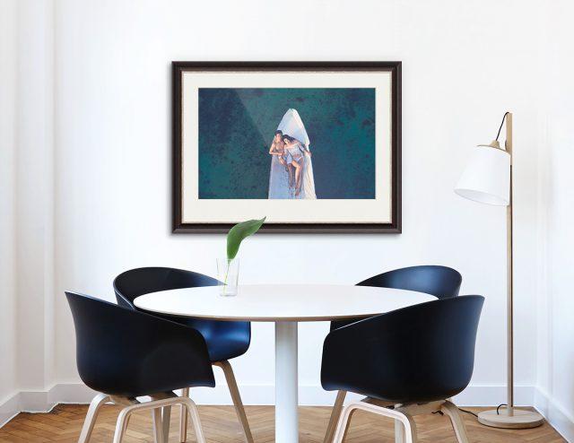 Das Lieblingsportrait des Paares als großformatiges Kunstwerk