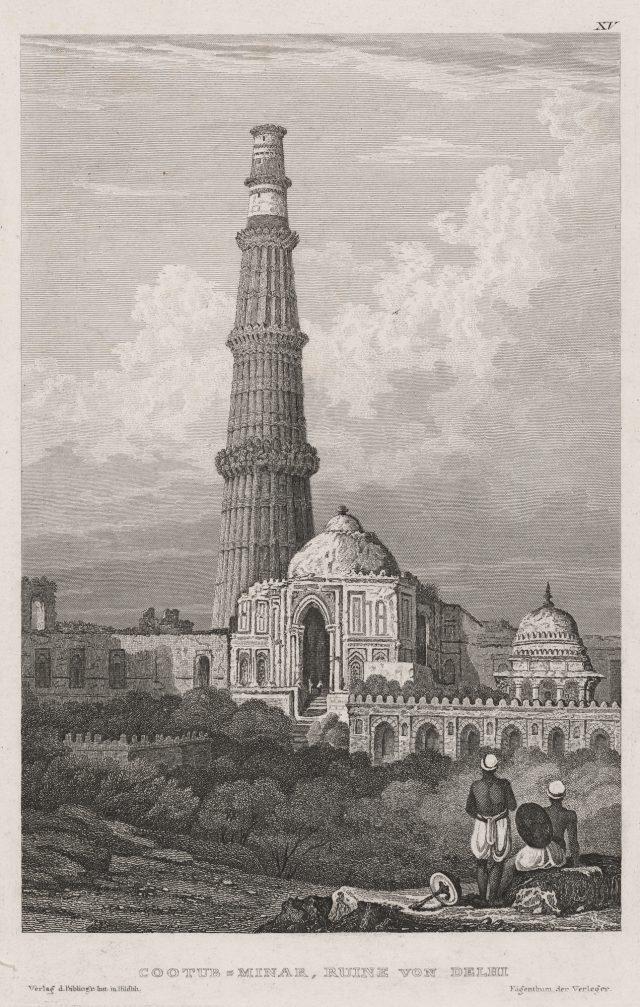 Es werden historische Aquatinta-Radierungen von indischen Heiligtümern zu sehen sein