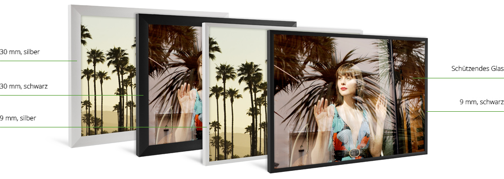 ihr foto im aluminium rahmen bestellen whitewall. Black Bedroom Furniture Sets. Home Design Ideas
