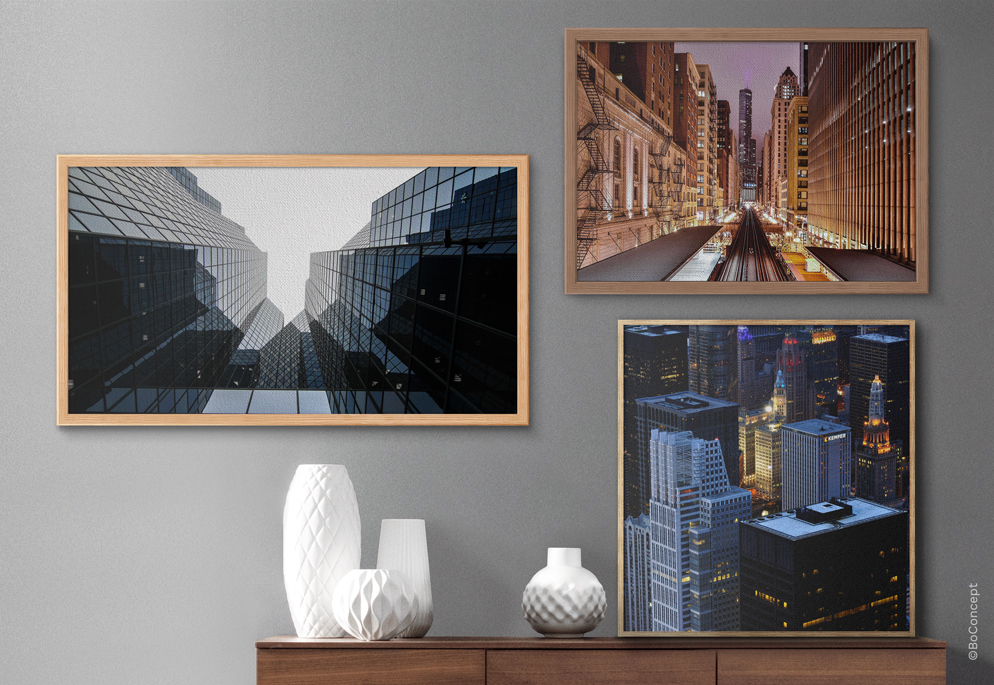 Photo Print On Glossy Canvas - Hand-Cut Frames