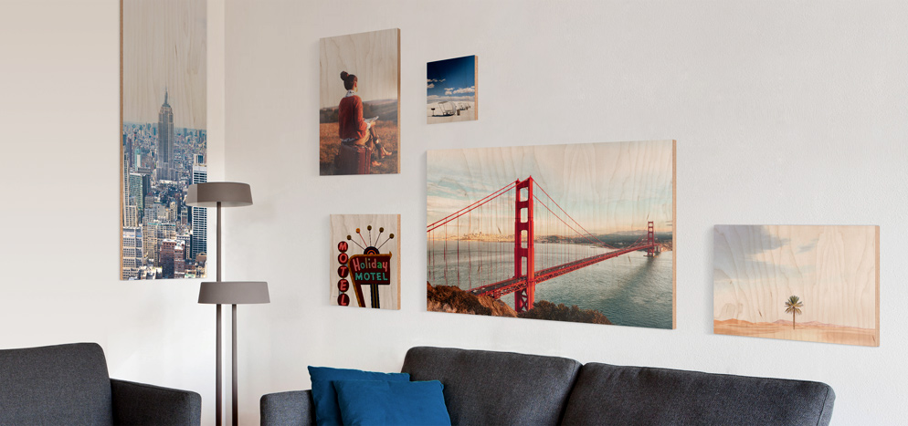Direct Photo Print On Wood - Custom Size And Format