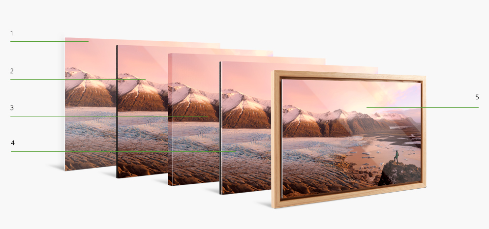 Photo Print With Floater Frame offers