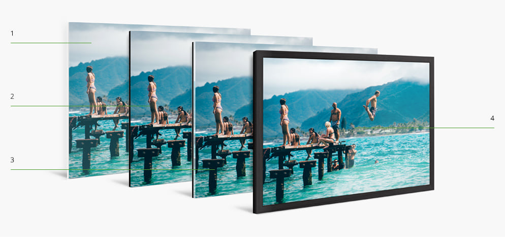 Photo Print With Wood Frame create