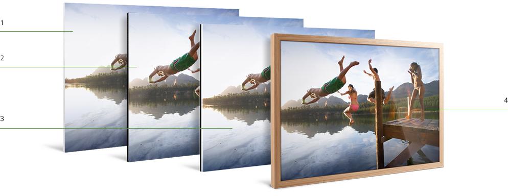 Galerielijst van massief hout online bestellen whitewall - Lijst van warme kleuren ...