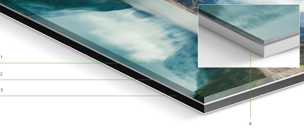 original photo print under acrylic matte whitewall. Black Bedroom Furniture Sets. Home Design Ideas