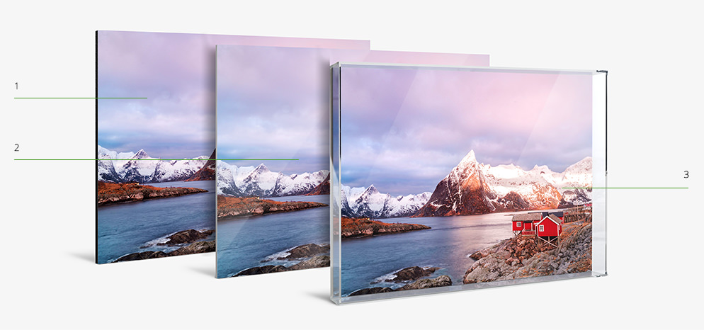 online Photo Print with Acrylic Box Frame