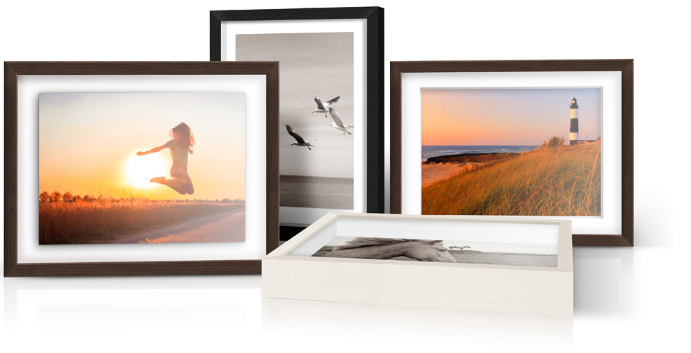 Photo Print With Shadow Box Frame