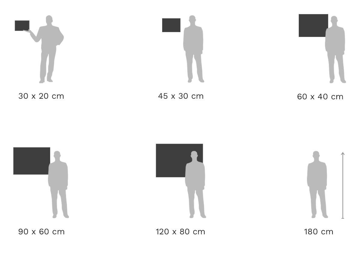 Größenvergleich: Foto im Pop Art Rahmen