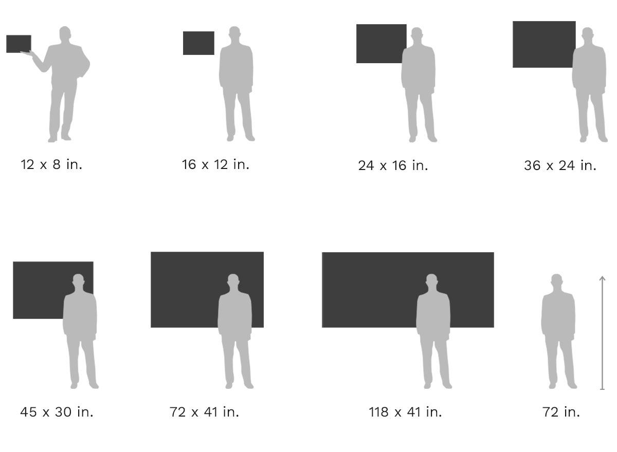 Picture Size Comparison Chart: Hahnemühle Fine Art Print